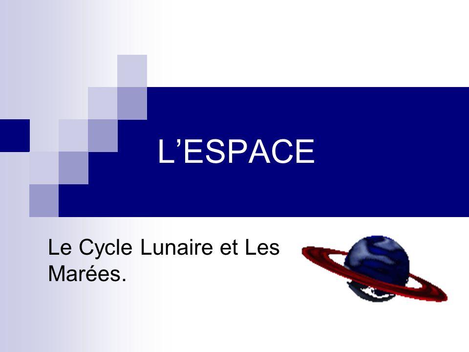 LESPACE Le Cycle Lunaire et Les Marées.