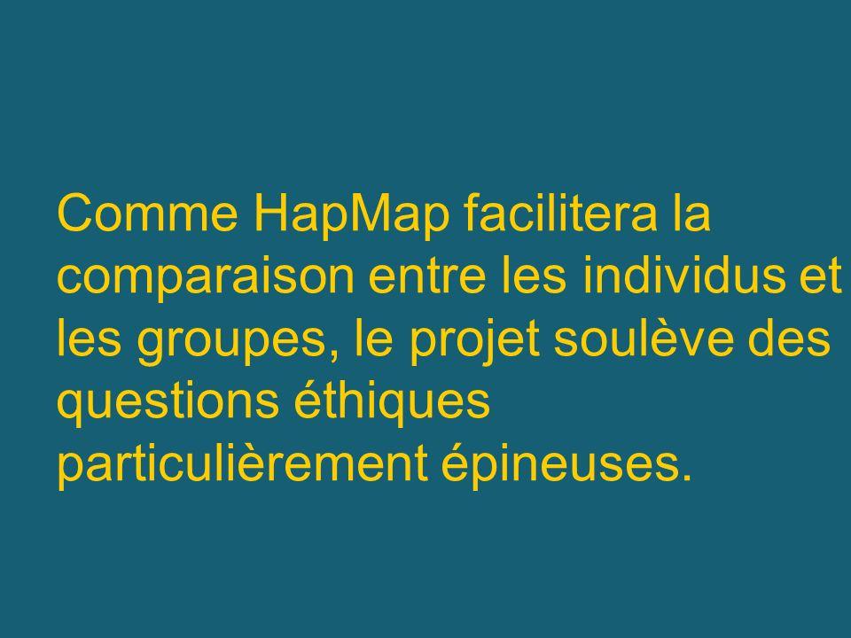 Comme HapMap facilitera la comparaison entre les individus et les groupes, le projet soulève des questions éthiques particulièrement épineuses.