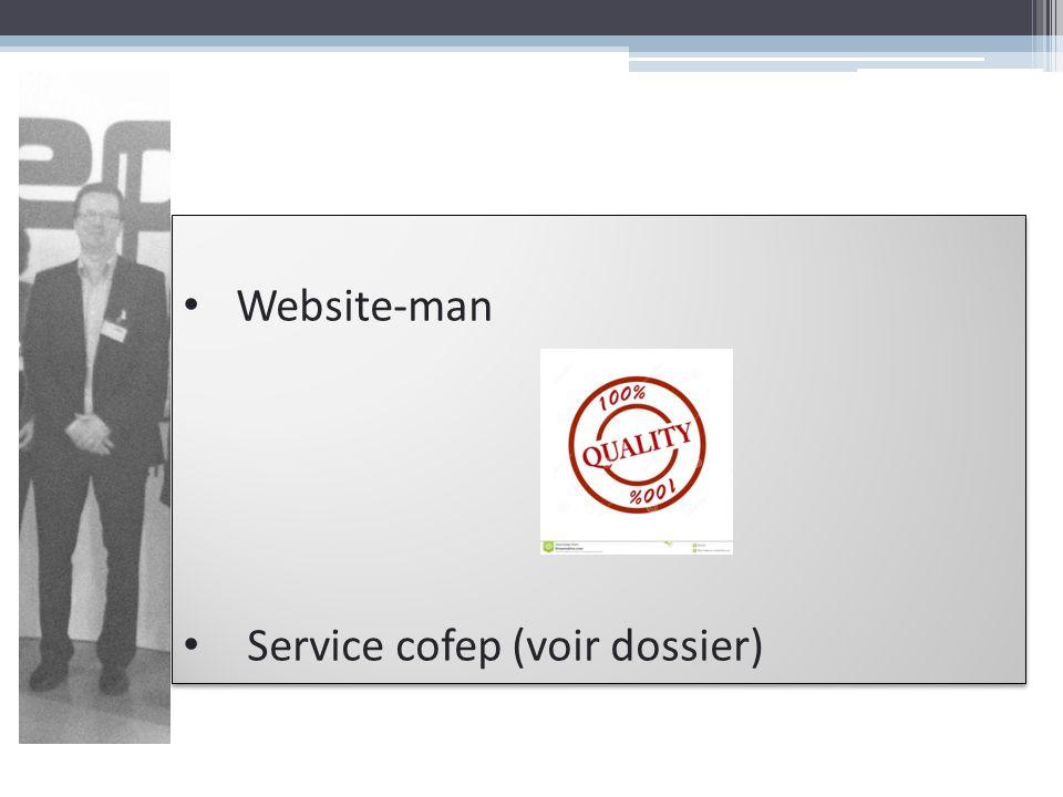Website-man Service cofep (voir dossier) Website-man Service cofep (voir dossier)