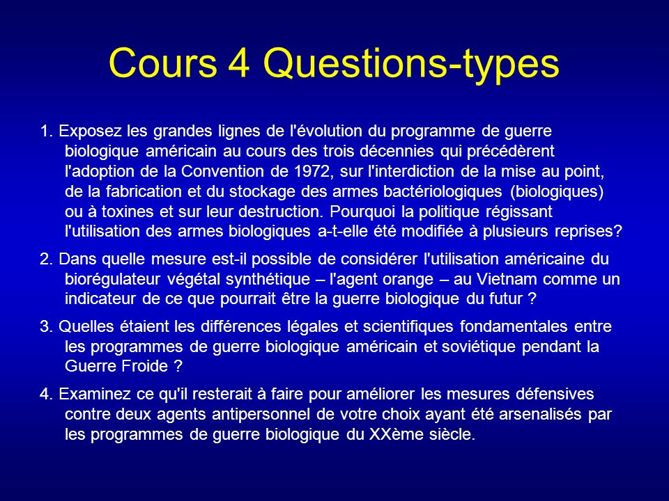 Cours 4 Questions-types 1.