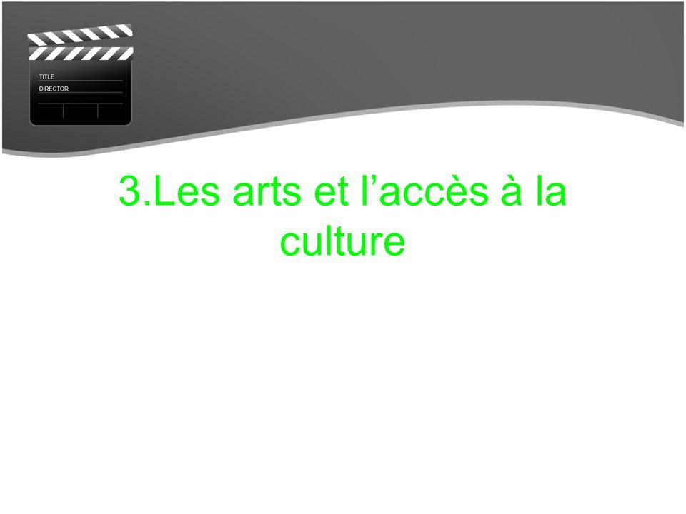 3.Les arts et laccès à la culture