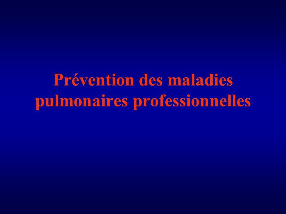 Prévention des maladies pulmonaires professionnelles