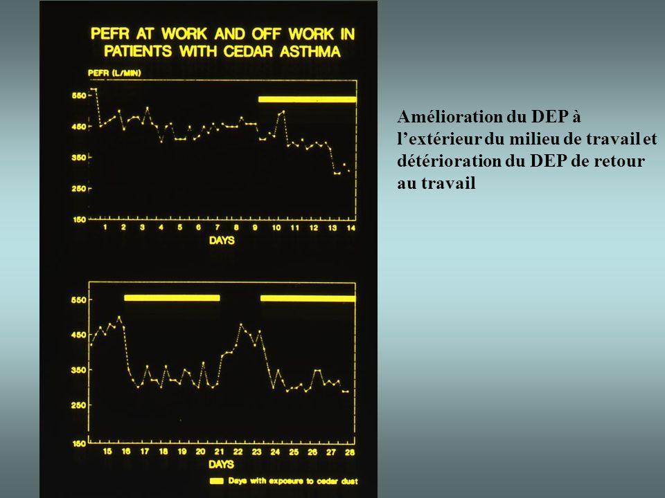 Amélioration du DEP à lextérieur du milieu de travail et détérioration du DEP de retour au travail