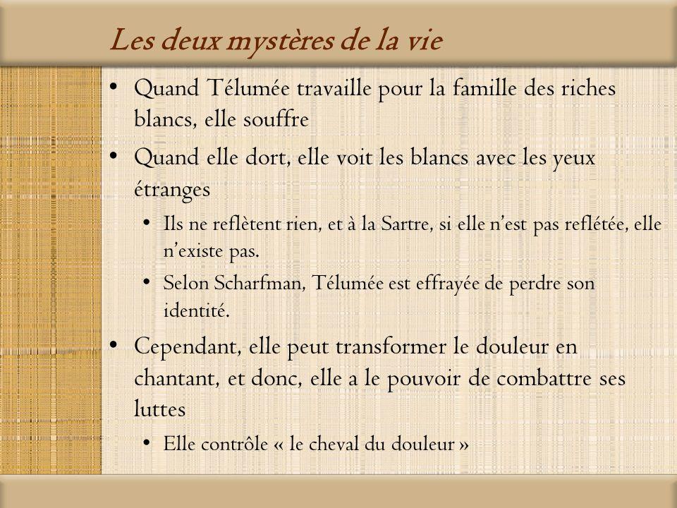 Les deux mystères de la vie Lamour Elie, le premier amant de Télumée, est son « jumeau » parce que les deux se reflètent Quand ils tombent amoureux lun de lautre, lamour devient une force très puissante Lamour a le pouvoir de détruire les deux individus.