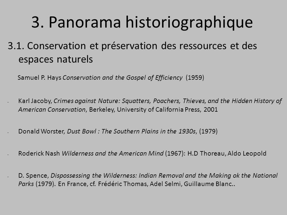 3. Panorama historiographique 3.1.