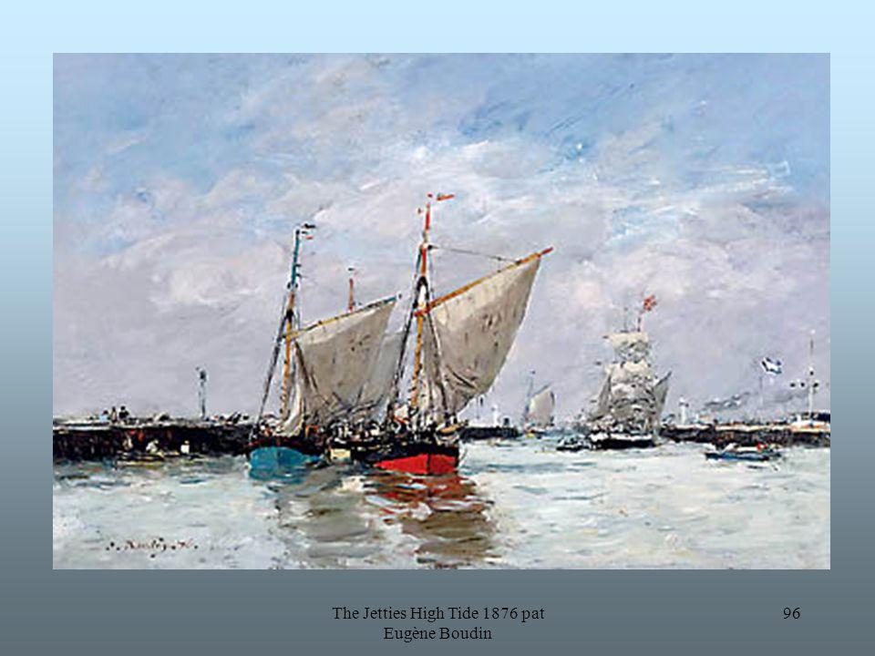 The Jetties High Tide 1876 pat Eugène Boudin 96