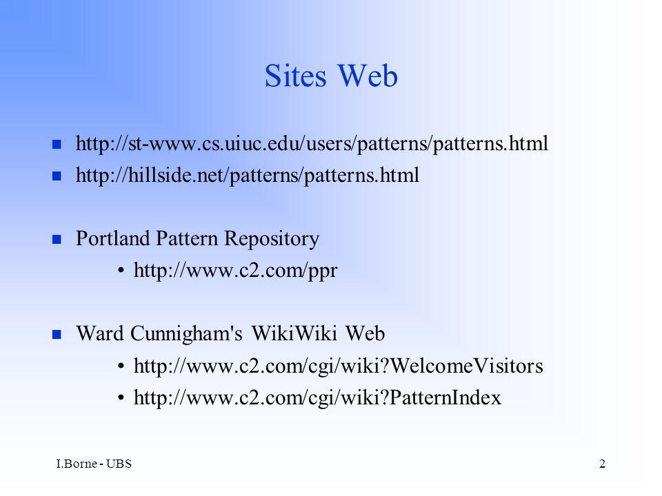 I.Borne - UBS33 Meta-pattern : Interaction Style
