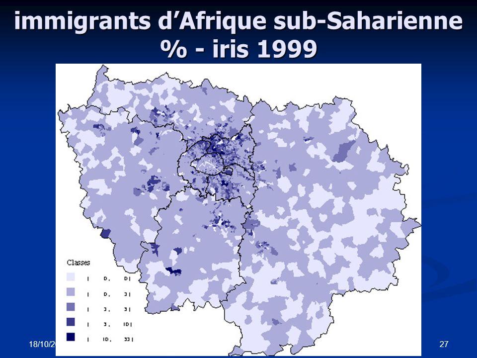 18/10/2006 EP - OSC26 immigrants du Maroc % - iris 1999