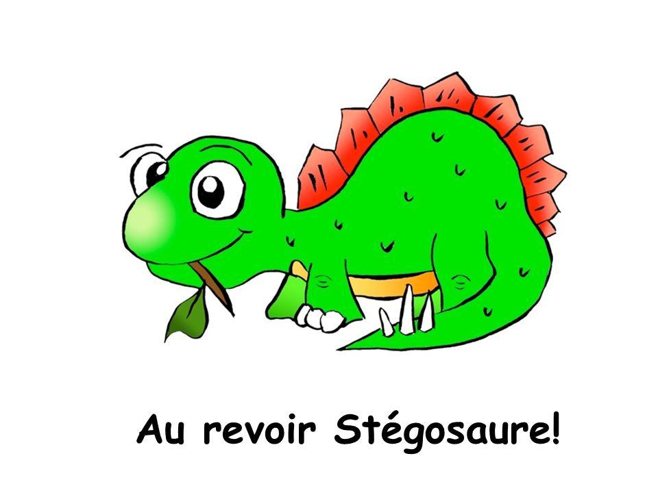 Au revoir Stégosaure!