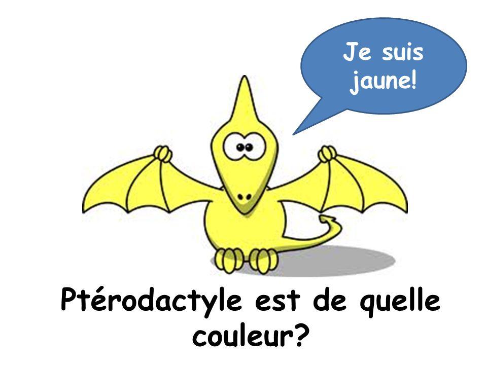 Ptérodactyle est de quelle couleur? Je suis jaune!