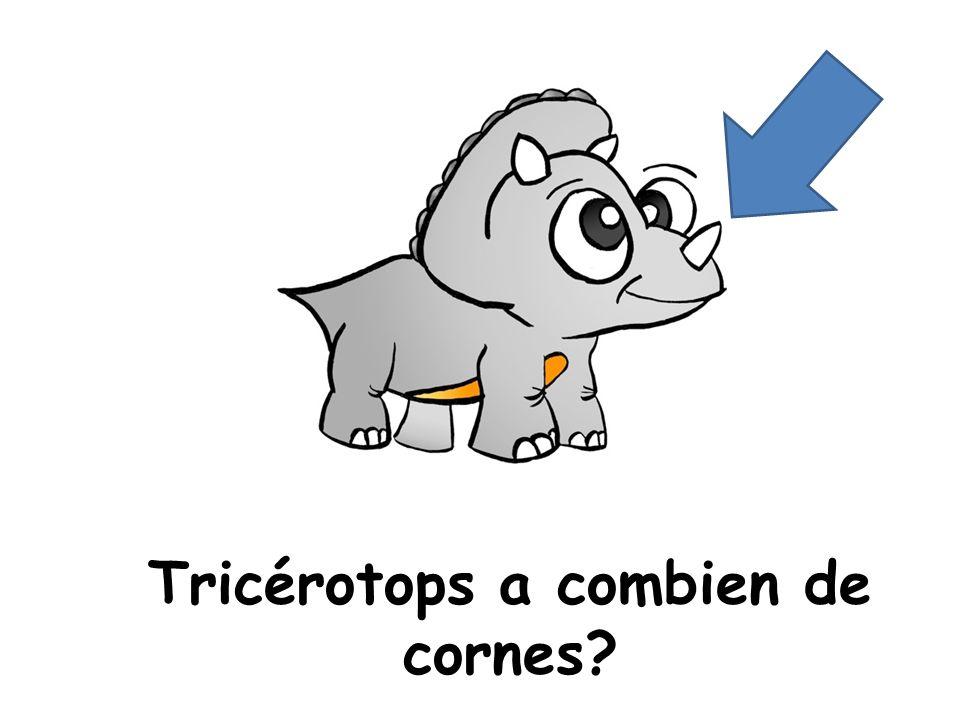 Tricérotops a combien de cornes?