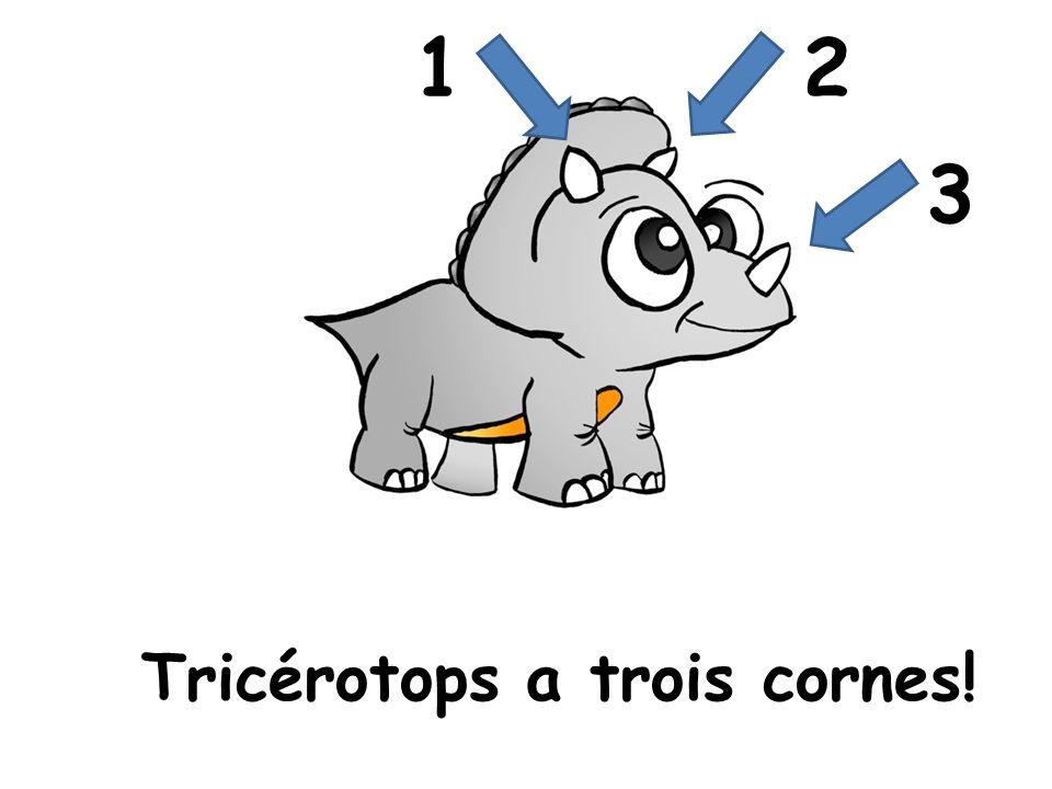 Tricérotops a trois cornes! 12 3