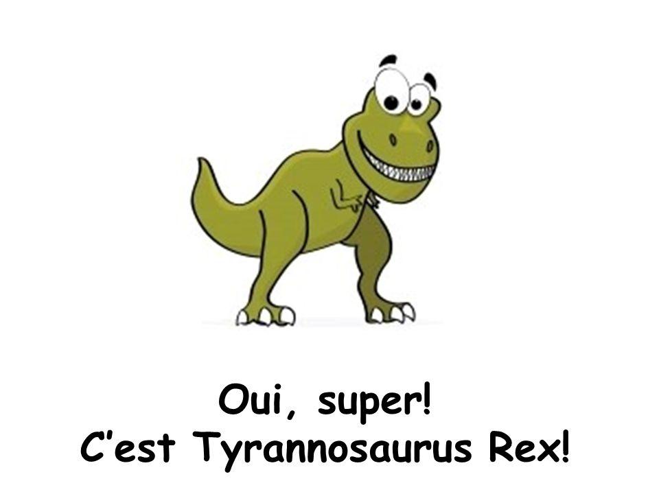 Oui, super! Cest Tyrannosaurus Rex!