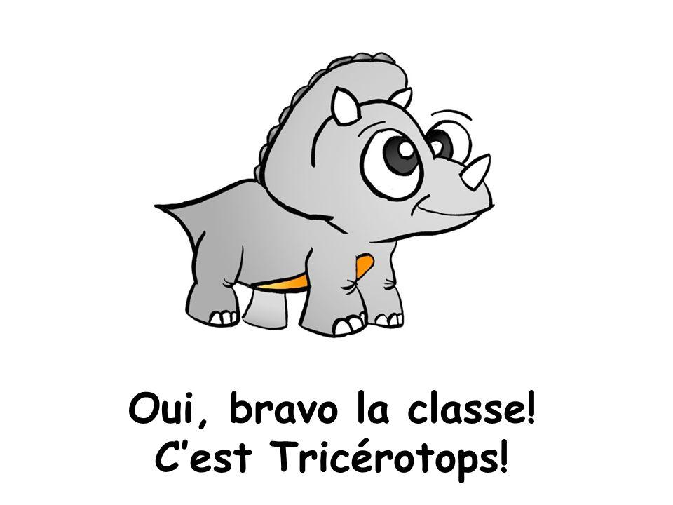 Oui, bravo la classe! Cest Tricérotops!