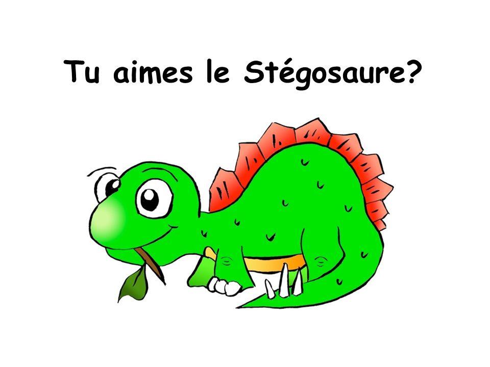Tu aimes le Stégosaure?