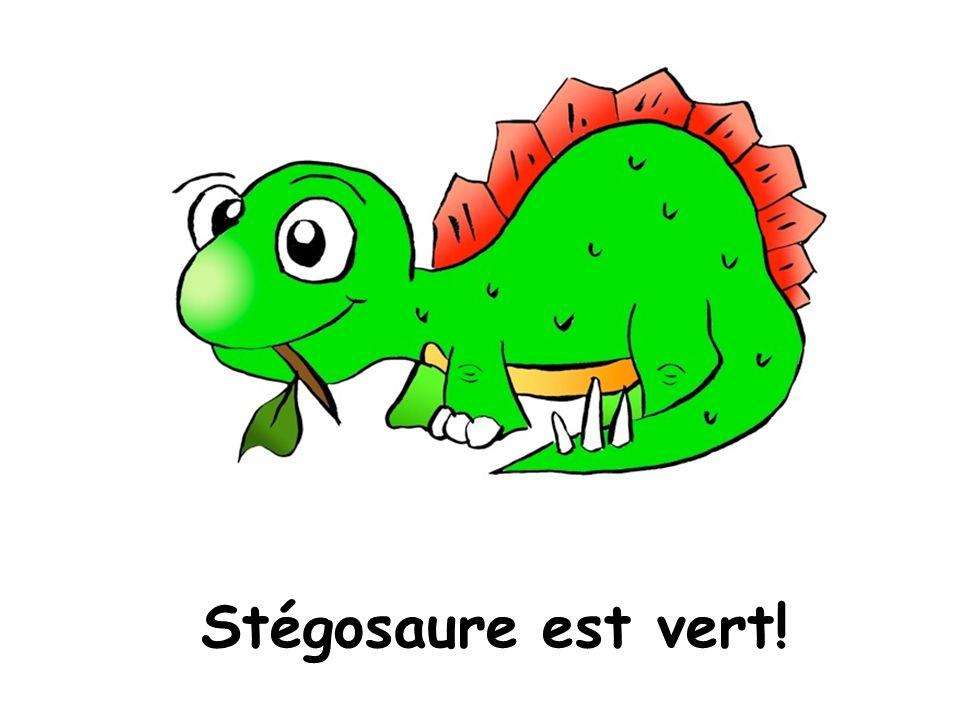 Stégosaure est vert!