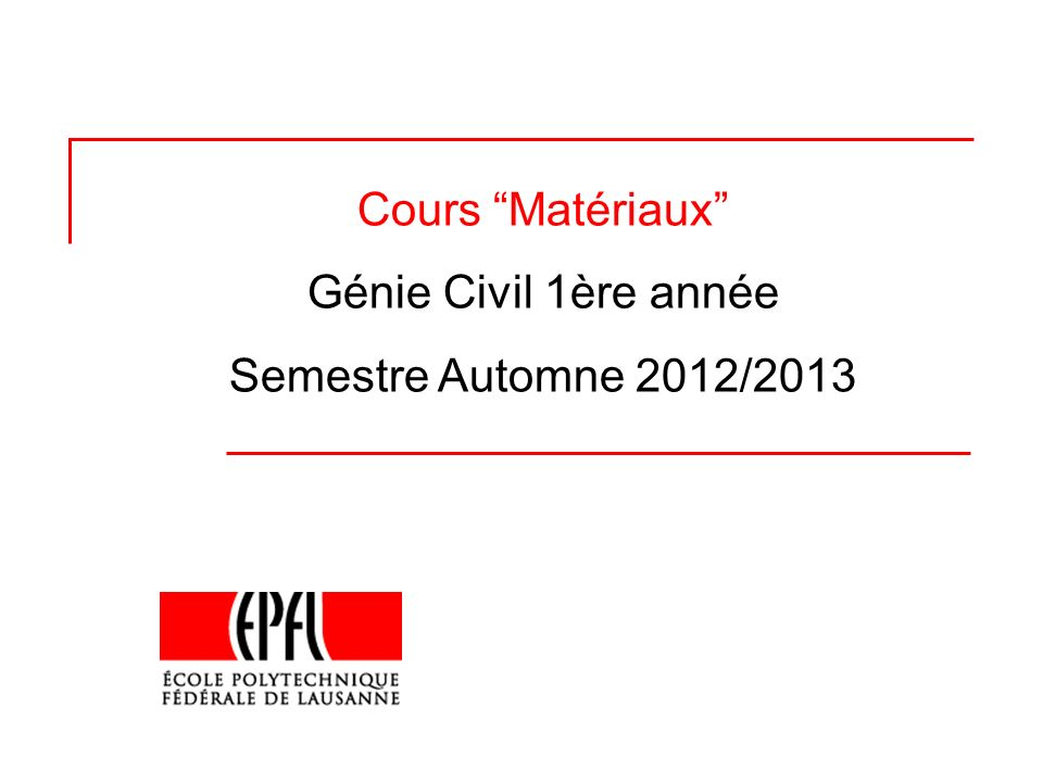 2 Enseignements & horaires Intervenants Prof.K. Scrivener (KS) A.