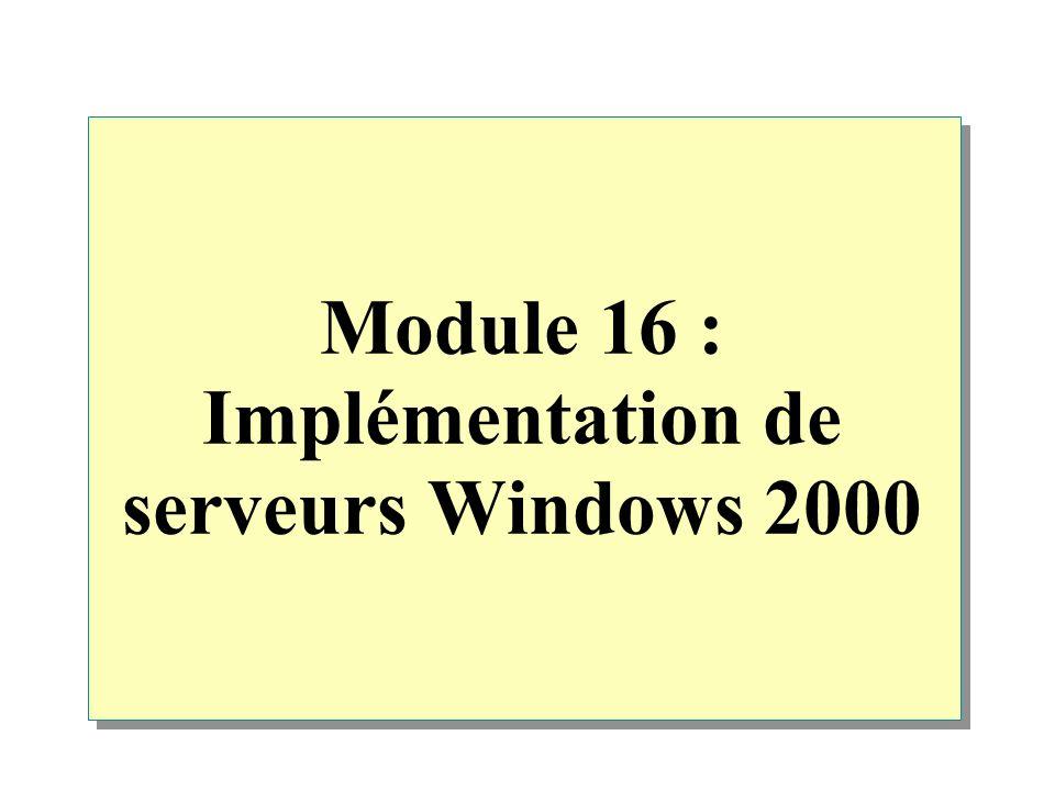 Discussion : Configuration d un serveur de fichiers Serveur de fichiers Prise en charge de la tolérance de panne Prise en charge de la tolérance de panne Déploiementd applicationsDéploiementd applications Déploiement de fichiers Déploiement SécuritéSécurité DossierspersonnelsDossierspersonnelsCryptage Cryptage \Utilisateurs Util.2Util.1