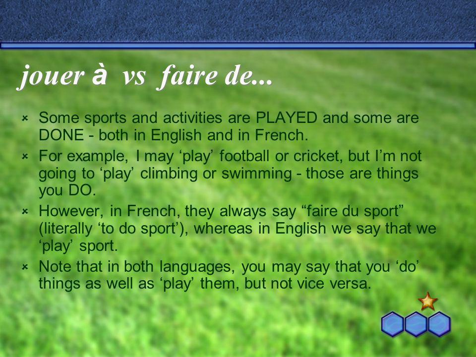 Quest-ce que tu pr é f è res. regarder le sport ou faire du sport.