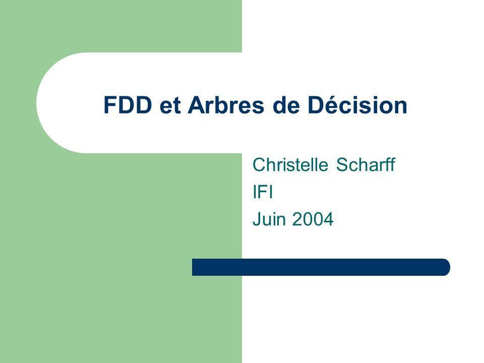 FDD et Arbres de Décision Christelle Scharff IFI Juin 2004