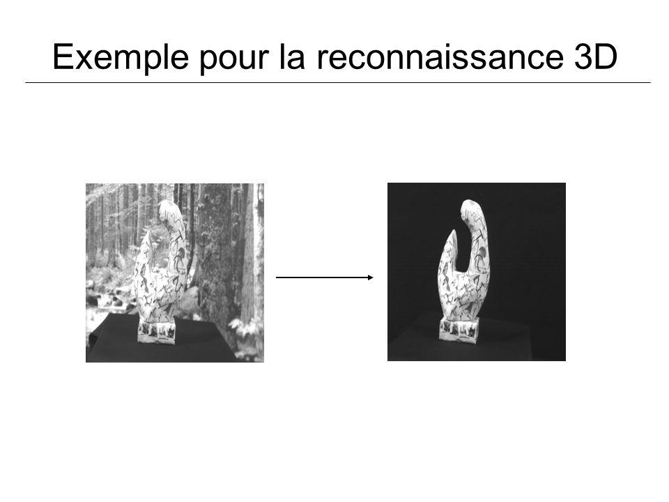 Exemple pour la reconnaissance 3D