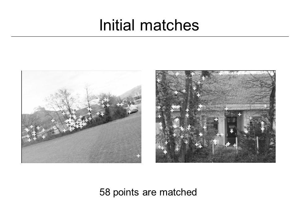 Vérification des appariements calcul du tenseur trifocal : à partir des appariements entre trois images vérification supplémentaire calcul robuste permet de rejeter les outliers image recherchée images de la base