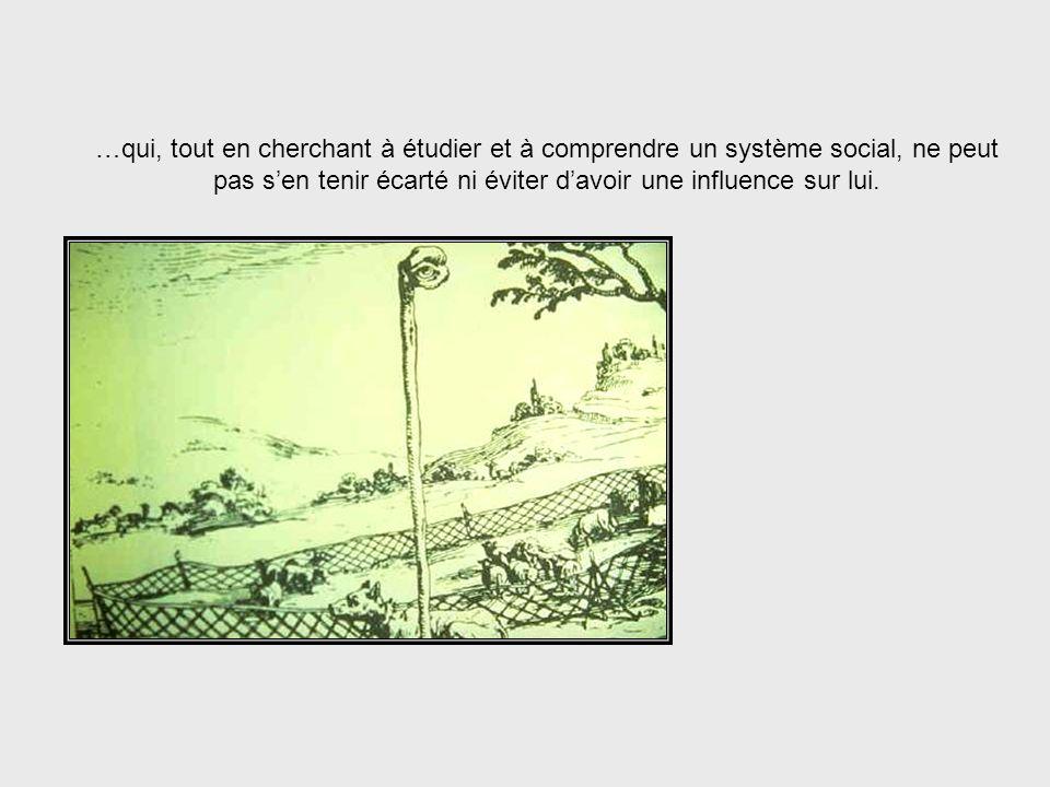 Lapplication des principes cybernétiques aux systèmes sociaux doit tenir compte du rôle de lobservateur…