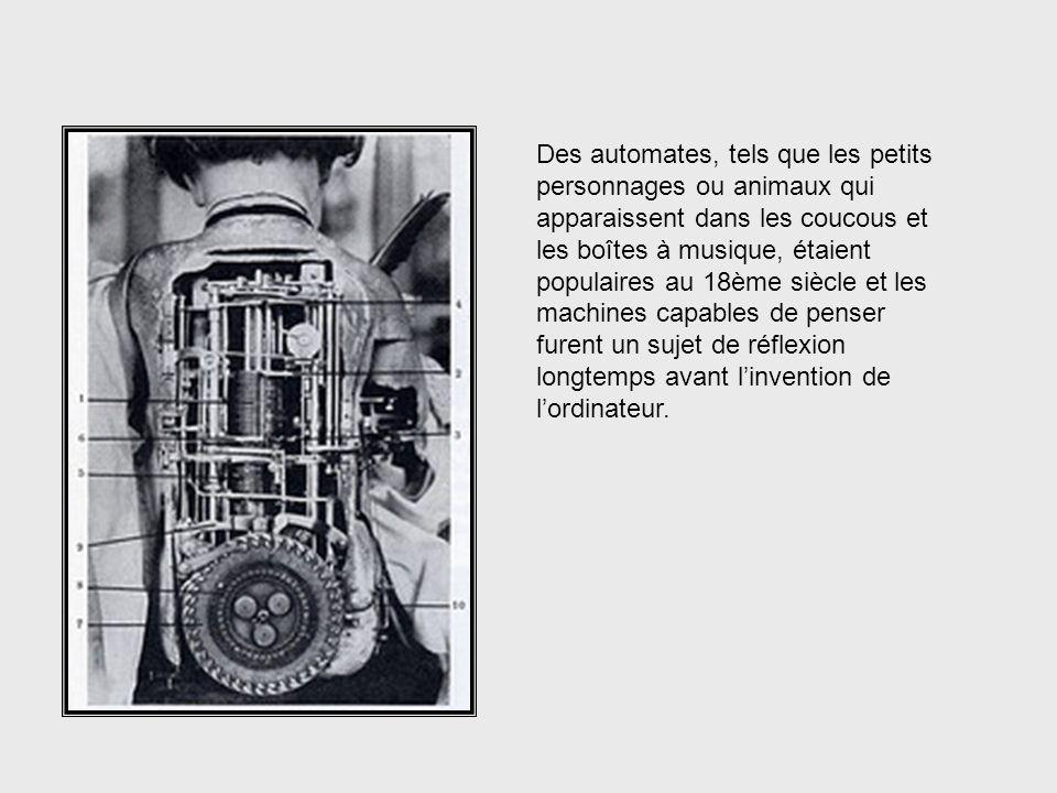 Pendant des siècles, on a construit des machines pour aider à accomplir des tâches humaines et pas seulement des tâches exigeant la force physique. De