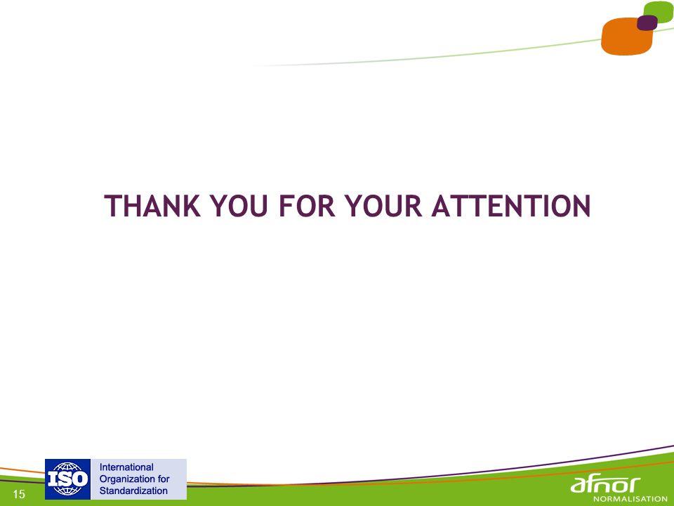 1 / Pour personnaliser les références : Affichage / En-tête et pied de page Personnaliser la zone Pied de page, Faire appliquer partout 15 THANK YOU F
