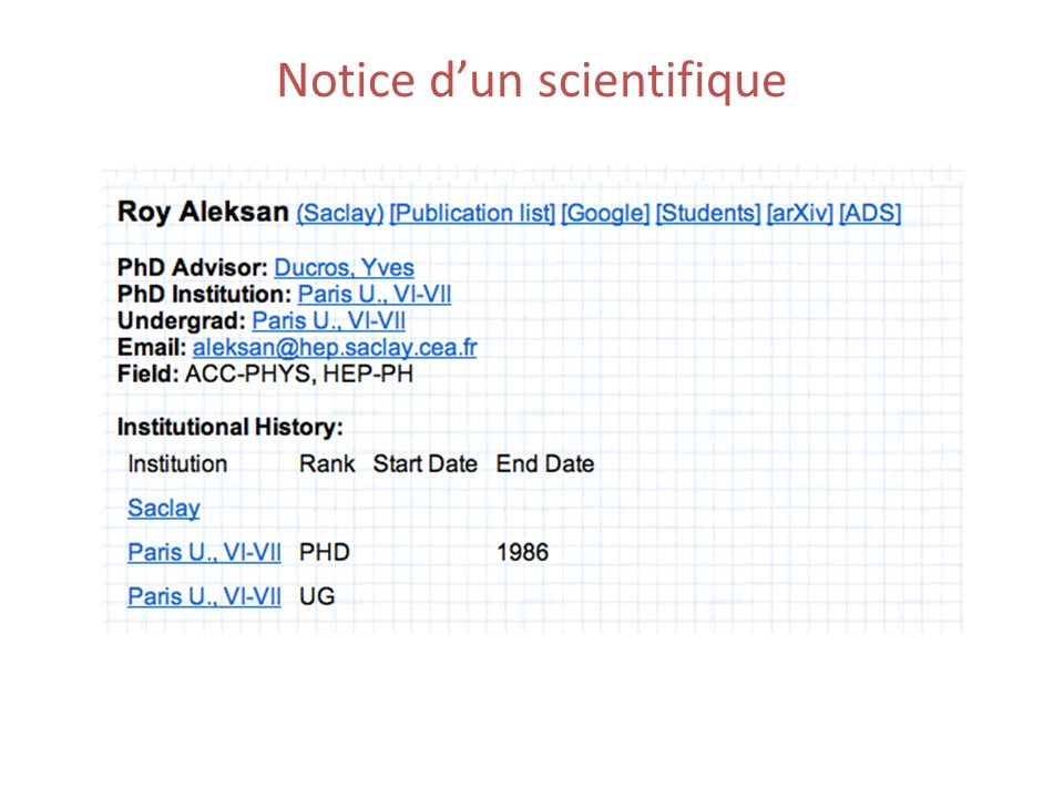 Notice dun scientifique