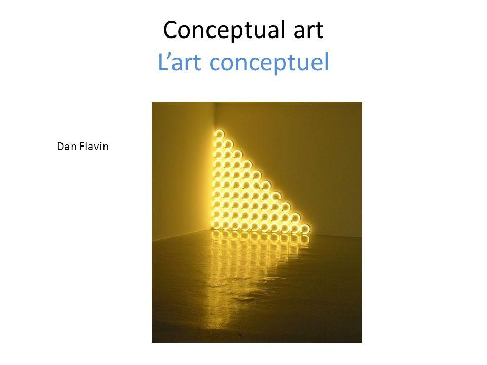 Conceptual art Lart conceptuel Dan Flavin