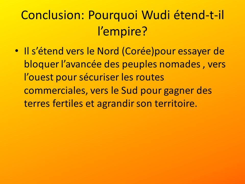 Conclusion: Pourquoi Wudi étend-t-il lempire.
