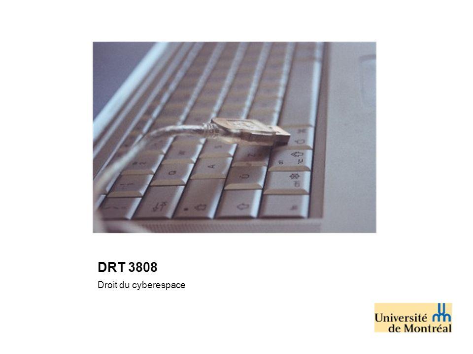 DRT 3808 Droit du cyberespace