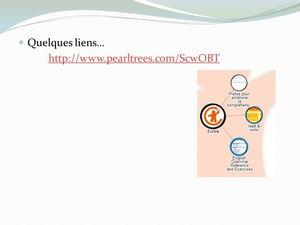 Quelques liens… http://www.pearltrees.com/ScwOBT