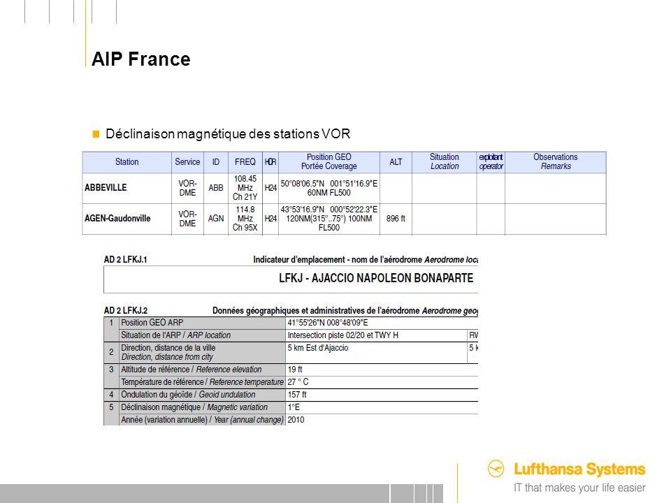 25.09.2012 AIP France Déclinaison magnétique des stations VOR
