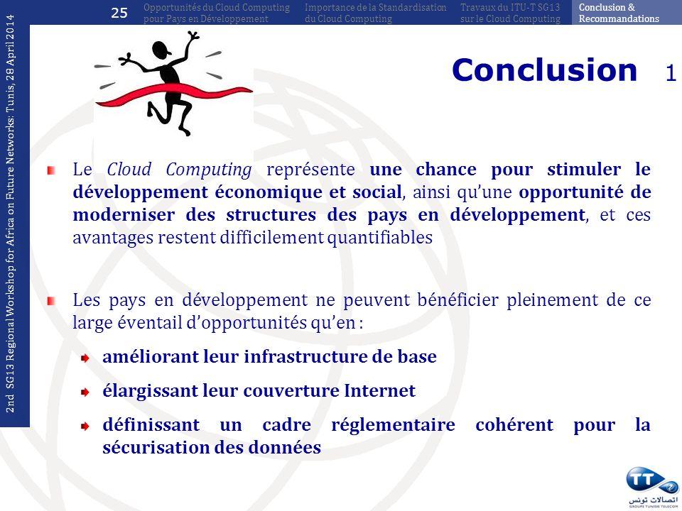 Le Cloud Computing représente une chance pour stimuler le développement économique et social, ainsi quune opportunité de moderniser des structures des