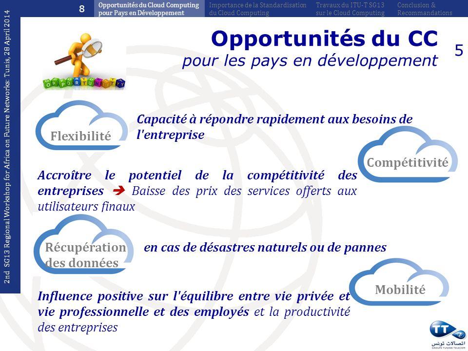 Opportunités du CC pour les pays en développement 5 Flexibilité Capacité à répondre rapidement aux besoins de l'entreprise Compétitivité Accroître le