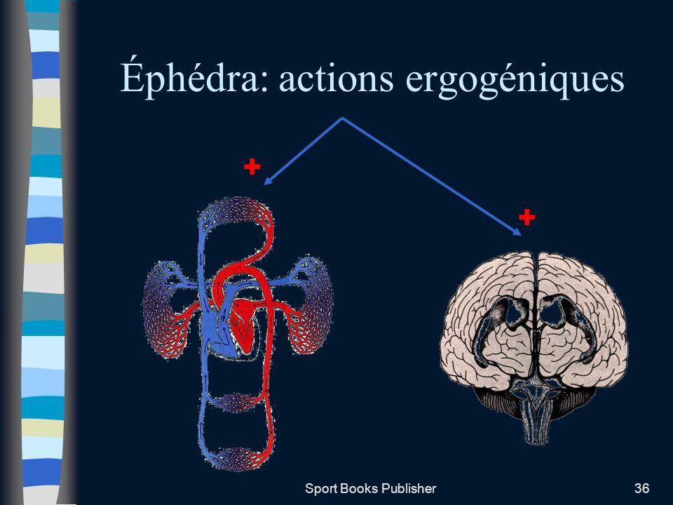 Sport Books Publisher36 Éphédra: actions ergogéniques + +