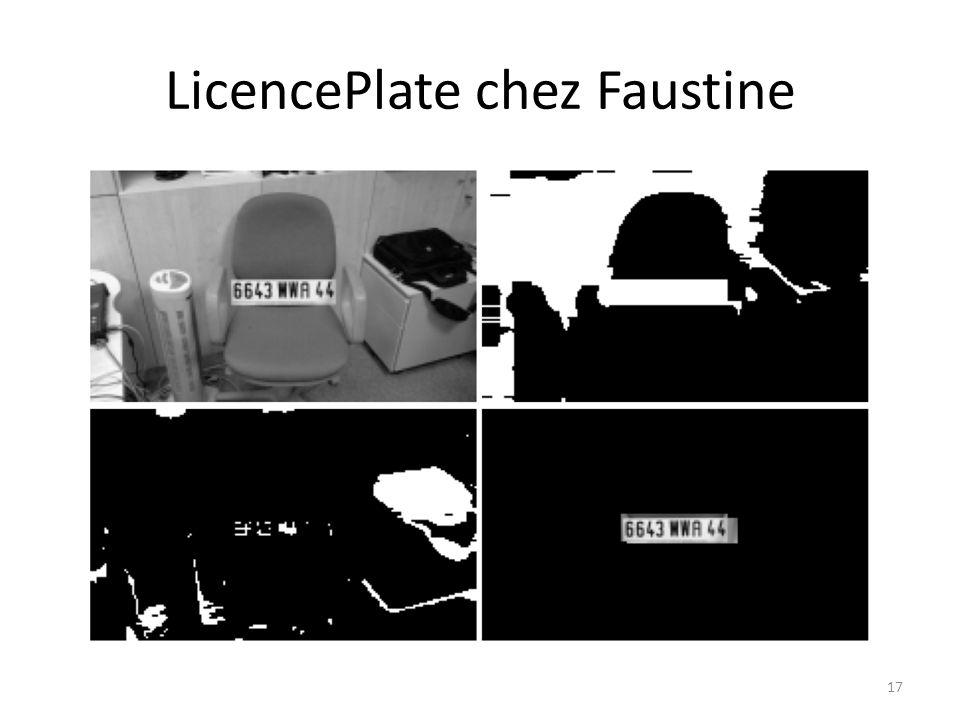 LicencePlate chez Faustine 17
