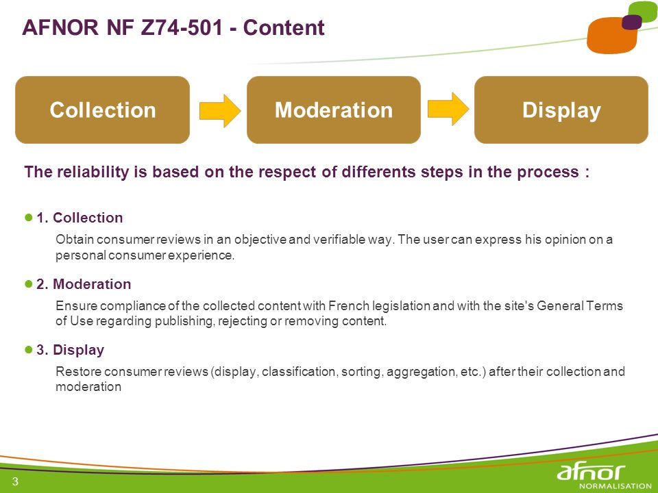 1 / Pour personnaliser les références : Affichage / En-tête et pied de page Personnaliser la zone Pied de page, Faire appliquer partout 3 AFNOR NF Z74