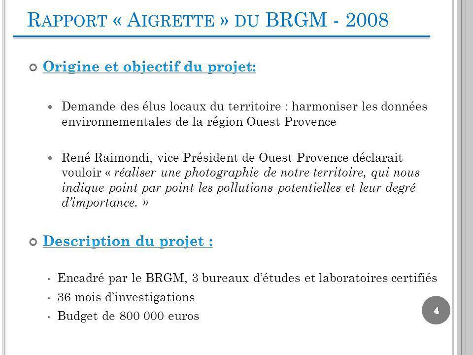 R APPORT « A IGRETTE » DU BRGM - 2008