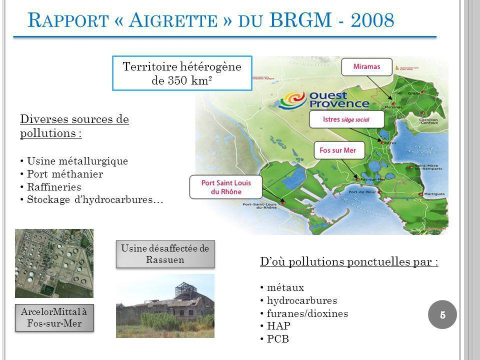 ArcelorMittal à Fos-sur-Mer Diverses sources de pollutions : Usine métallurgique Port méthanier Raffineries Stockage dhydrocarbures… Usine désaffectée
