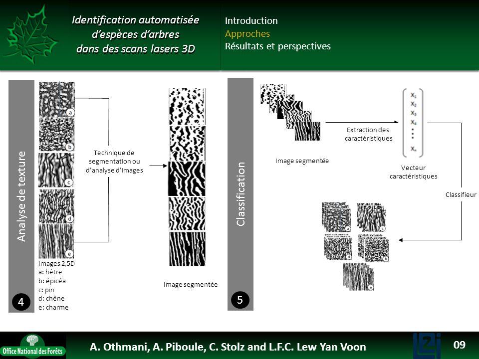 Nuage de points 3D Patch 3D Maillage 3D Filtrage Triangulation Pré-traitement Extraction des morceaux de troncs 1 Carte de hauteur ou profondeur Maill