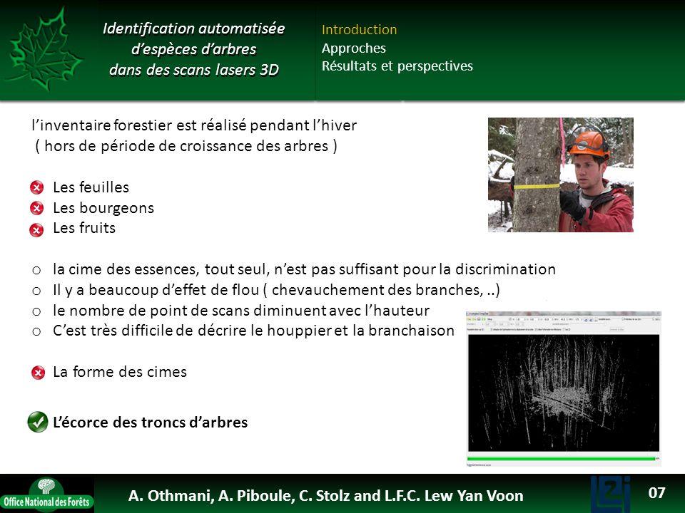 OTHMANI Ahlem 2013 Identification automatisée despèces darbres dans des scans lasers 3D linventaire forestier est réalisé pendant lhiver ( hors de pér