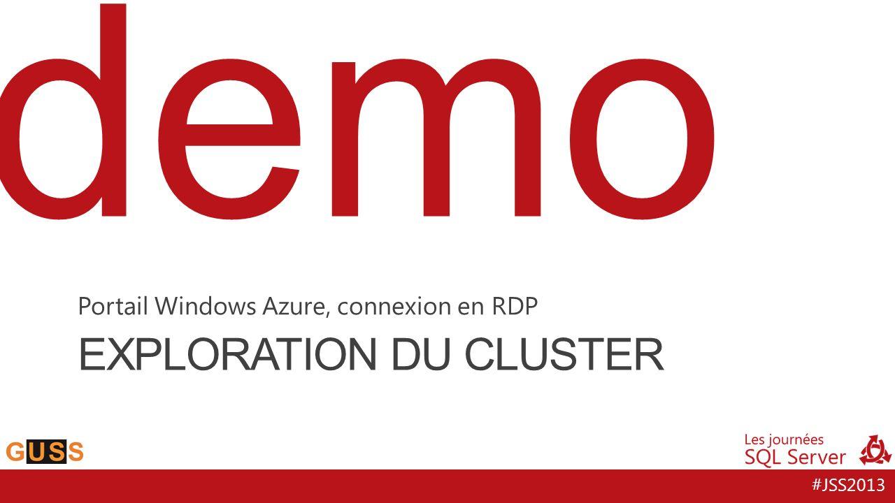 #JSS2013 demo EXPLORATION DU CLUSTER Portail Windows Azure, connexion en RDP