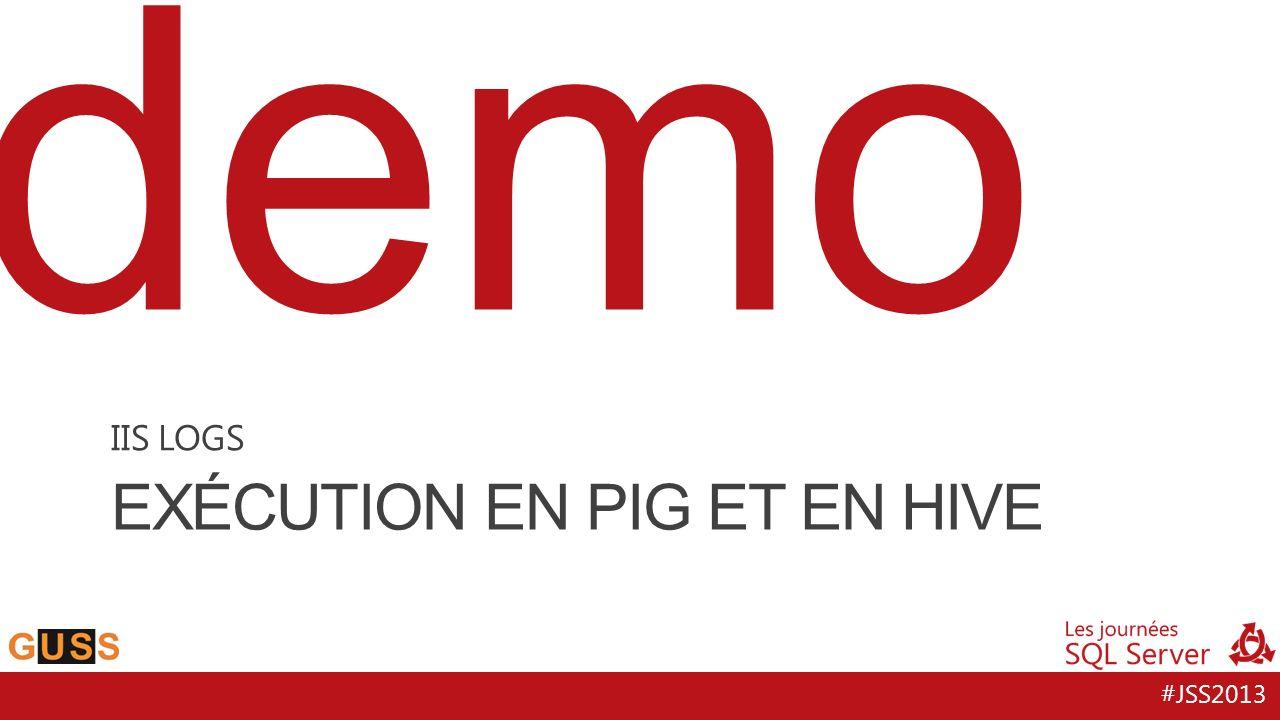 #JSS2013 demo EXÉCUTION EN PIG ET EN HIVE IIS LOGS