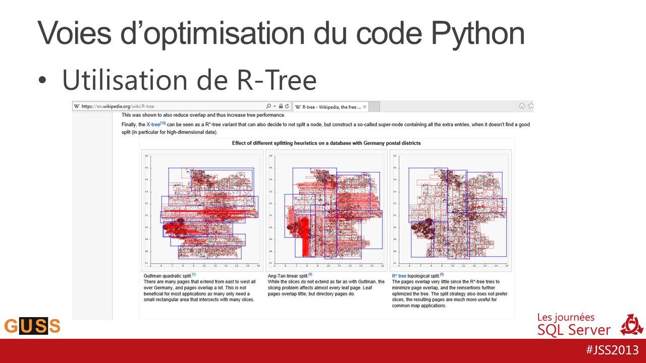 #JSS2013 Utilisation de R-Tree Voies doptimisation du code Python