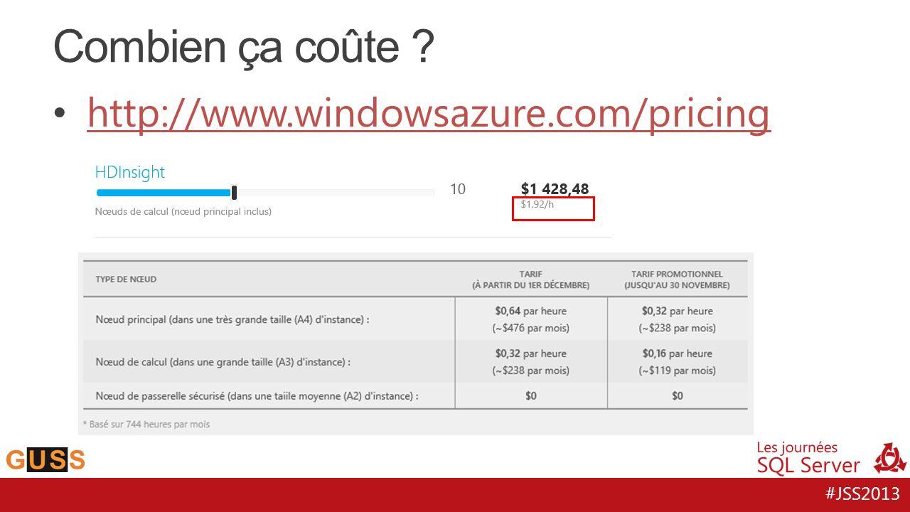 #JSS2013 http://www.windowsazure.com/pricing Combien ça coûte ?