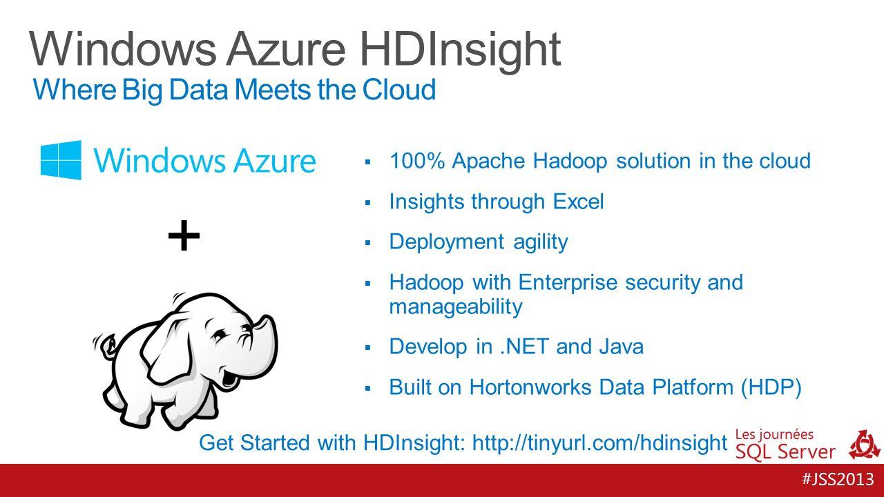 #JSS2013 7 + Hortonworks Data Platform for Windows HDInsight