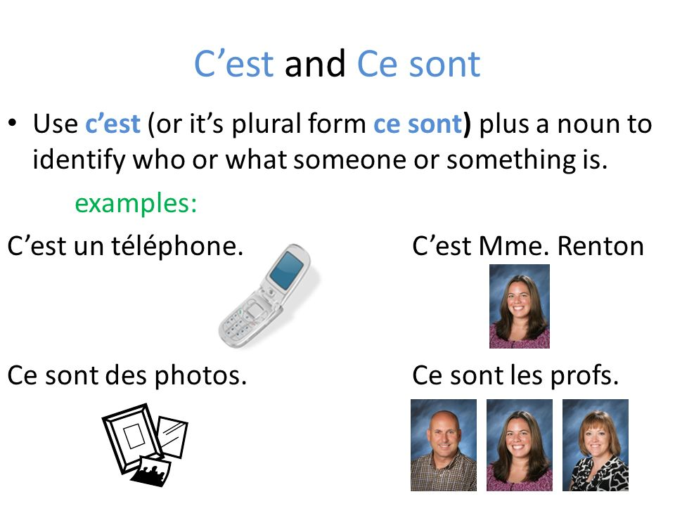Il/elle est and ils/elles sont Use the phrases il/elle est and ils/elles sont to refer to someone or something previously mentioned.